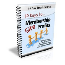 10 Days To Membership Profits Course PLR Resale Rights